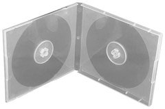 Evergreen 10.4mm Clear Double CD/DVD Poly Case