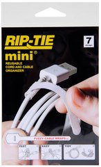 Rip-Tie mini - White 3.5 Inches - 7 Ties
