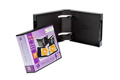 UniKeep 20 Disc CD/DVD Wallet - Black