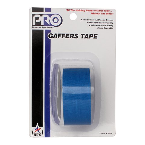 Pro-Tapes Pro-Gaffer Retail Pack 1 Inch Electric Blue