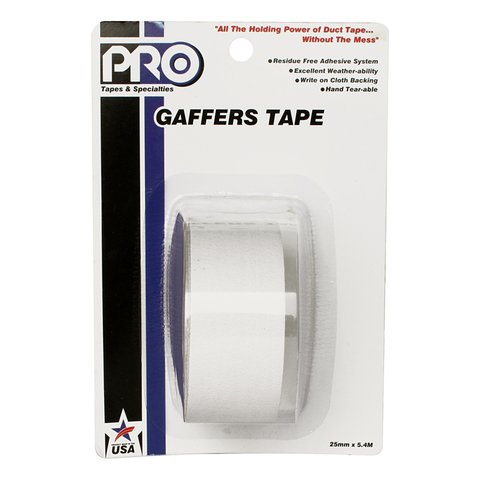 Pro-Tapes Pro-Gaffer Retail Pack 1 Inch White