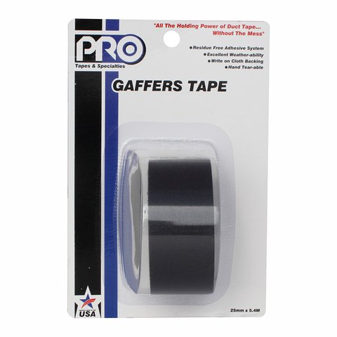 Pro-Tapes Pro-Gaffer Retail Pack 1 Inch Black