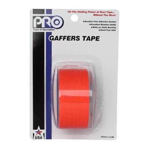 Pro-Tapes Pro-Gaffer Retail Pack 1 Inch Fluorescent Orange