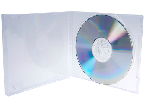 Evergreen 10.4mm Clear Single CD/DVD Poly Case