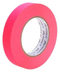 Pro-Tapes Artist Tape 1 Inch Fluorescent Pink