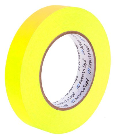 Artist Tape 1 Inch Fluorescent Yellow