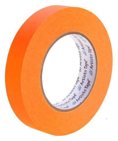 Pro-Tapes Artist Tape 1 Inch Fluorescent Orange