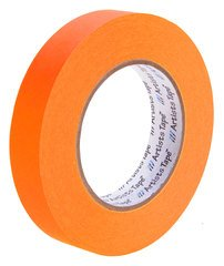 Pro-Tapes Artist Tape 1 Inch Fluorescent Orange