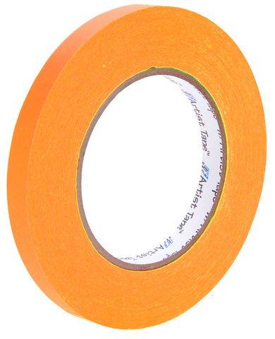 Pro-Tapes Artist Tape 1/2 Inch Fluorescent Orange