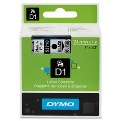 "Dymo D1 1"" Tape Label - 23 ft. Roll - Black on Clear"