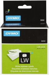 "Dymo LW Address Labels - 1-1/8"" x 3-1/2"" - Roll of 350"