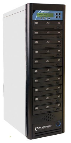Microboards CopyWriter Pro Blu-ray Tower Duplicator - 10 Recorders