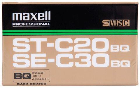Maxell VHS-C ST-C20 / SE-C30 21 Minutes