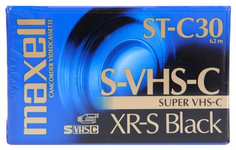 Maxell VHS-C ST-C30 XR-S Black 30 Minutes