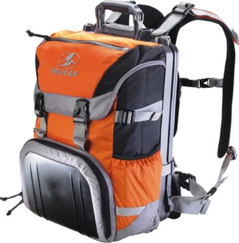 Pelican S100 Sport Elite Laptop Backpack - Orange on Black/Grey