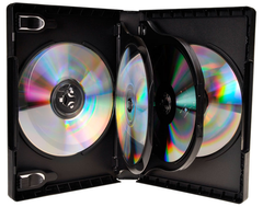 Evergreen 27mm 5 Disc DVD Case with Two Trays