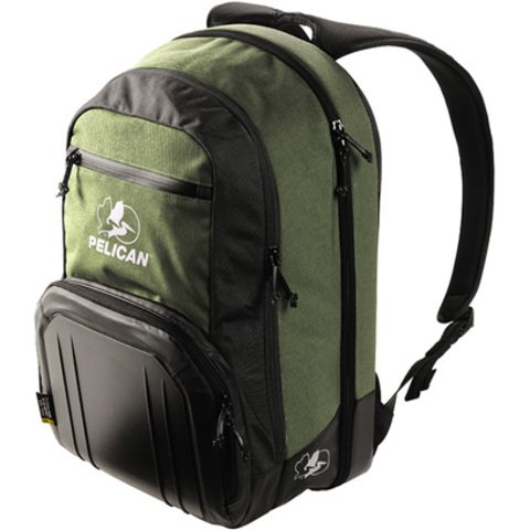 S105 Sport Laptop Backpack - Green on Black