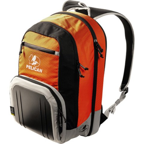 Pelican S105 Sport Laptop Backpack - Orange on Black/Grey