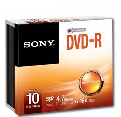 Sony 16x DVD-R Logo Branded - 10 Discs