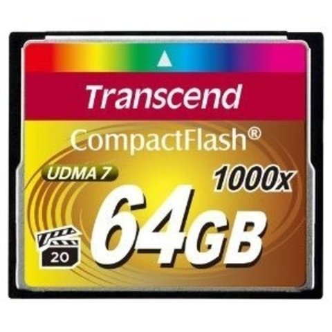 Transcend 64GB Ultimate 1000x Compact Flash Memory Card