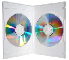 Evergreen Double DVD Case - White