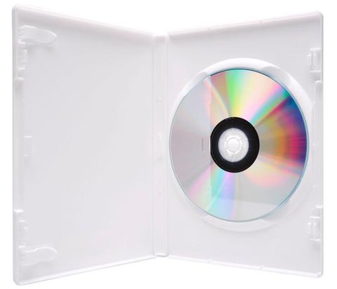 Evergreen 14mm Single DVD Case - White