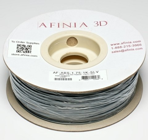 Afinia Value-Line Silver ABS Filament - 22047