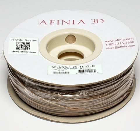 Afinia Value-Line Gold ABS Filament - 22103