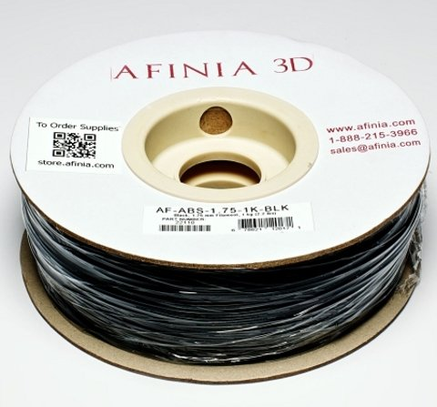 Afinia Value-Line Black ABS Filament - 22110
