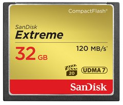 SanDisk 32GB Extreme Compact Flash UDMA 7 Memory Card