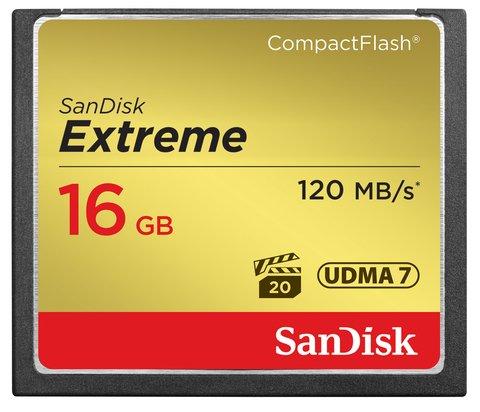 SanDisk 16GB Extreme Compact Flash UDMA 7 Memory Card