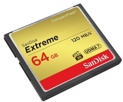 SanDisk 64GB Extreme Compact Flash UDMA 7 Memory Card