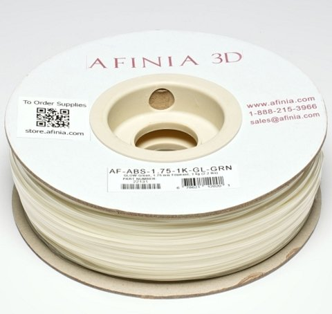 Afinia Value-Line Glow-in-the-Dark Green ABS Filament - 22131