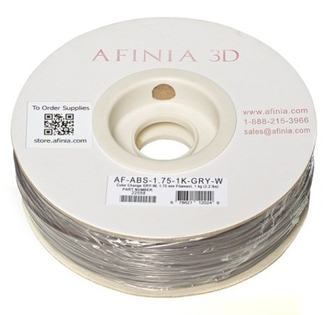 Afinia Value-Line Color Change Grey-White ABS Filament - 22558