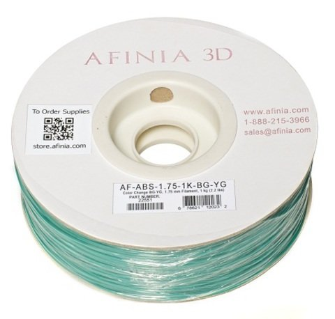 Afinia Value-Line Color Change Blue/Green-Yellow/Green ABS Filament - 22551