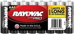 Rayovac Alkaline Shrink-Wrapped Ultra Pro AA Batteries - 8-Pack