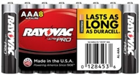 Rayovac Alkaline Shrink-Wrapped Ultra Pro AAA Batteries - 8 Pack