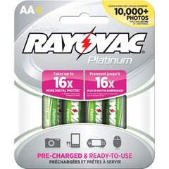 Rayovac Platinum Rechargeable AA Batteries - 4-Pack