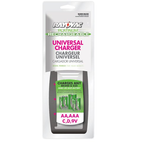 Rayovac Platinum AA/AAA/C/D/9V Universal Charger