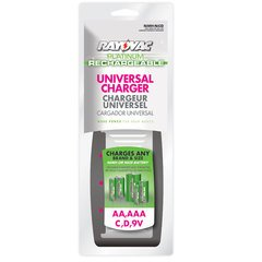 Platinum AA/AAA/C/D/9V Universal Charger