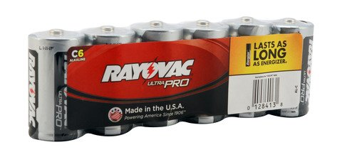 Rayovac Alkaline Shrink-Wrapped Ultra Pro C Batteries - 6-Pack