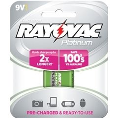 Rayovac Platinum Rechargeable 9V Battery