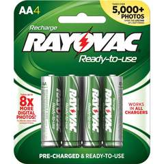 Rayovac Ready-to-Use Rechargeable AA Battery - 4-Pack