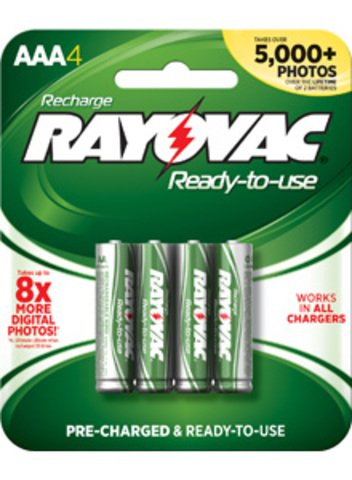Rayovac Ready-to-Use Rechargeable AAA Battery - 4-Pack