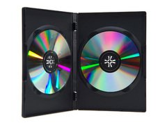 Evergreen 14mm Double DVD Case - Black