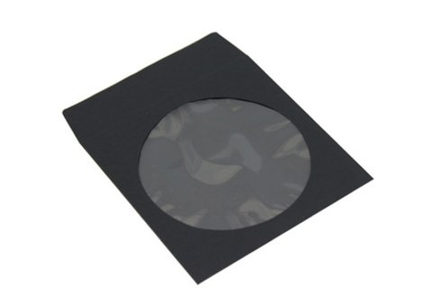 Evergreen CD/DVD Black Paper Sleeve with Window