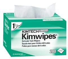 "Kimberly-Clark Kimtech Science Kimwipes - 4.4"" x 8.4"" - Box of 280 Wipes"