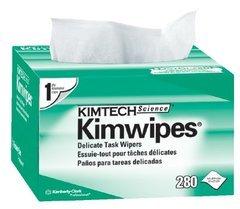 "Kimberly-Clark Kimtech Science Kimwipes - 4.4"" x 8.4"" - Box of 280 Wipes"