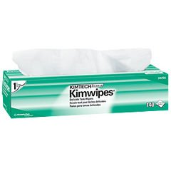"Kimberly-Clark Kimtech Science Kimwipes - 14.7"" x 16.6"" - Box of 140 Wipes"