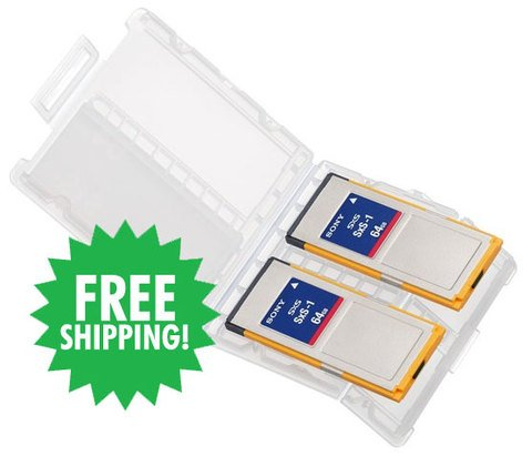 Sony SxS-1 64GB Memory Card 2-Pack